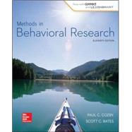 Methods in Behavioral Research by Cozby , Paul;Bates , Scott, 9780077861896