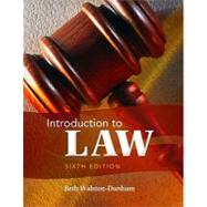 Introduction to Law by Walston-Dunham, Beth, 9781111311896