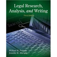 Legal Research, Analysis, and Writing by Putman, William H.; Albright, Jennifer, 9781133591900