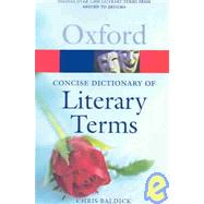 The Concise Oxford Dictionary of Literary Terms by Baldick, Chris, 9780780761902