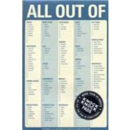 All Out of Pad - Blue: Pad: Blue (With Magnet) by Knock Knock, 9781601061935