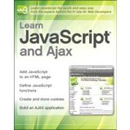 Learn JavaScript and Ajax with W3Schools by Unknown, 9780470611944