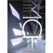 Modern Construction: Handbook by Watts, Andrew, 9783211991954