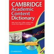 Cambridge Academic Content Dictionary Reference Book with CD-ROM by Unknown, 9780521691963
