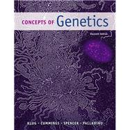 MasteringGenetics with Pearson eText -- Standalone Access Card -- for Concepts of Genetics by Klug, William S.; Cummings, Michael R.; Spencer, Charlotte A.; Palladino, Michael A., 9780133981964