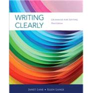 Writing Clearly Grammar for Editing by Lane, Janet; Lange, Ellen, 9781111351977