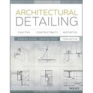 Architectural Detailing by Allen, Edward; Rand, Patrick, 9781118881996