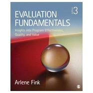 Evaluation Fundamentals by Fink, Arlene, 9781452282008
