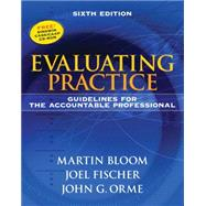 Evaluating Practice Guidelines for the Accountable Professional by Bloom, Martin; Fischer, Joel; Orme, John G., 9780205612017