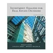 Investment Analysis for Real Estate Decisions by Kolbe, Phillip T.; Greer, Gaylon E., 9781427742056