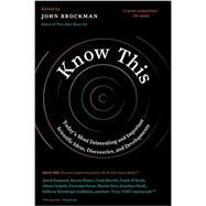 Know This by Brockman, John, 9780062562067