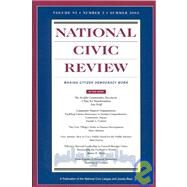 National Civic Review, Volume 92, No. 1, Summer 2003, by Michael McGrath; Editor:  Robert Loper, 9780787972073