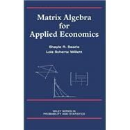 Matrix Algebra for Applied Economics sale 2016