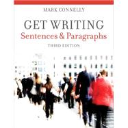 Get Writing Sentences and Paragraphs by Connelly, Mark, 9781111772161