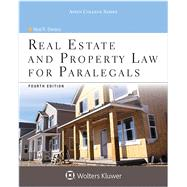 Real Estate & Property Law for Paralegals 4e by Bevans, Neal R., 9781454852186