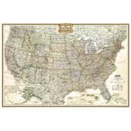 United States Executive Poster Size Map by National Geographic Maps, 9781597752190