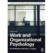 Work and Organizational Psychology by Rothmann; Ian, 9781848722194