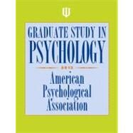 Graduate Study in Psychology 2013 by American Psychological Association, 9781433812200