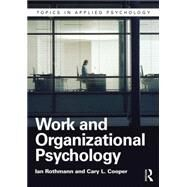 Work and Organizational Psychology by Rothmann; Ian, 9781848722200