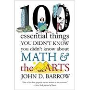 100 Essential Things You Didn't Know You Didnt Know About Math and the Arts by Barrow, John D., 9780393352221