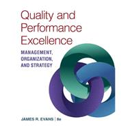 Quality & Performance Excellence by Evans, James R., 9781305662223