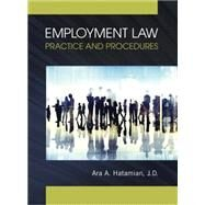 Employment Law Practice and Procedures by Hatamian, Ara, 9780133772241