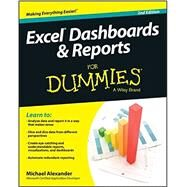 Excel Dashboards and Reports for Dummies by Alexander, Michael, 9781118842249