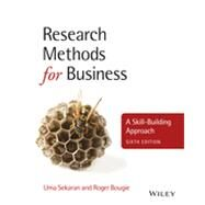 Research Methods for Business A Skill-Building Approach by Sekaran, Uma; Bougie, Roger, 9781119942252