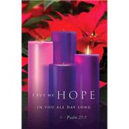 Hope / Advent Sunday 1 Bulletin by Abingdon Press, 9781501802263