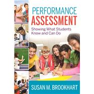 Performance Assessment by Brookhart, Susan M., 9781941112304