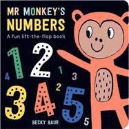 Mr. Monkey's Numbers A Fun Lift-the-Flap Book by Baur, Becky, 9781454922308