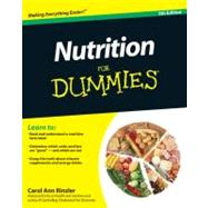 Nutrition For Dummies by Rinzler, Carol Ann, 9780470932315