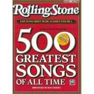 Rolling Stone Easy Piano Sheet Music Classics by Coates, Dan, 9780739052365