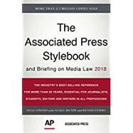 The Associated Press Stylebook 2018 by Froke, Paula; Bratton, Anna Jo; Garcia, Oskar; Mcmillan, Jeff; Minthorn, David, 9781541672383