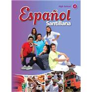 Espanol Santillana HS Level 4 Student Book with Audio CD by Sanrillana, 9781622632428