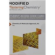 Modified MasteringChemistry with Pearson eText -- Standalone Access Card -- for Chemistry A Molecular Approach by Tro, Nivaldo J., 9780134162430