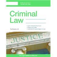 Criminal Law by Bergman, Paul, 9781413322439