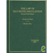 The Law of Securities Regulation by Hazen, Thomas Lee, 9780314172457