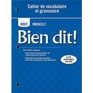 Holt French 2: Cahier De Vocabulaire Et Grammaire by Trees, Samuel J.; Schiller, Christine (CON), 9780030882470