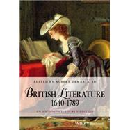 British Literature 1640-1789 by DeMaria, Robert, Jr., 9781118952481