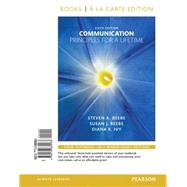Communication Principles for a Lifetime, Books a la Carte Edition by Beebe, Steven A.; Beebe, Susan J.; Ivy, Diana K., 9780133882483