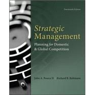 Strategic Management by Pearce, John; Robinson, Richard, 9780077862510