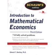 Schaum's Outline of Introduction to Mathematical Economics, 3rd Edition by Dowling, Edward, 9780071762519
