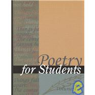 Poetry for Students by Hacht, Anne Marie; Kelly, David, 9780787652548