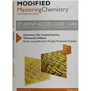 Modified MasteringChemistry with Pearson eText -- Standalone Access Card -- for Chemistry The Central Science by Brown, Theodore E.; LeMay, H. Eugene; Bursten, Bruce E.; Murphy, Catherine; Woodward, Patrick; Stoltzfus, Matthew E., 9780321972552