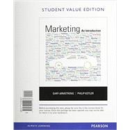 Marketing An Introduction, Student Value Edition Plus 2014 MyMarketLab with Pearson eText -- Access Card Package by Armstrong, Gary; Kotler, Philip, 9780133792591