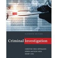 Criminal Investigation, 11th Edition by Hess, 9781285862613