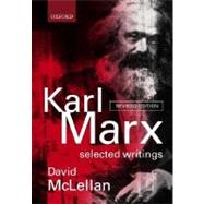 Karl Marx Selected Writings by Marx, Karl; McLellan, David, 9780198782650