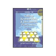Gregg College Keyboarding & Document Processing for Windows: Kit 1 : Lessons 1-60 : For Use With Wordperfect 7.0 by Ober, Scot; Hanson, Robert N.; Johnson, Jack E.; Rice, Arlene; Poland, Robert P.; Rossetti, Albert D., 9780028032672