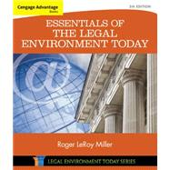 Cengage Advantage Books: Essentials of the Legal Environment Today by Miller, Roger LeRoy, 9781305262676